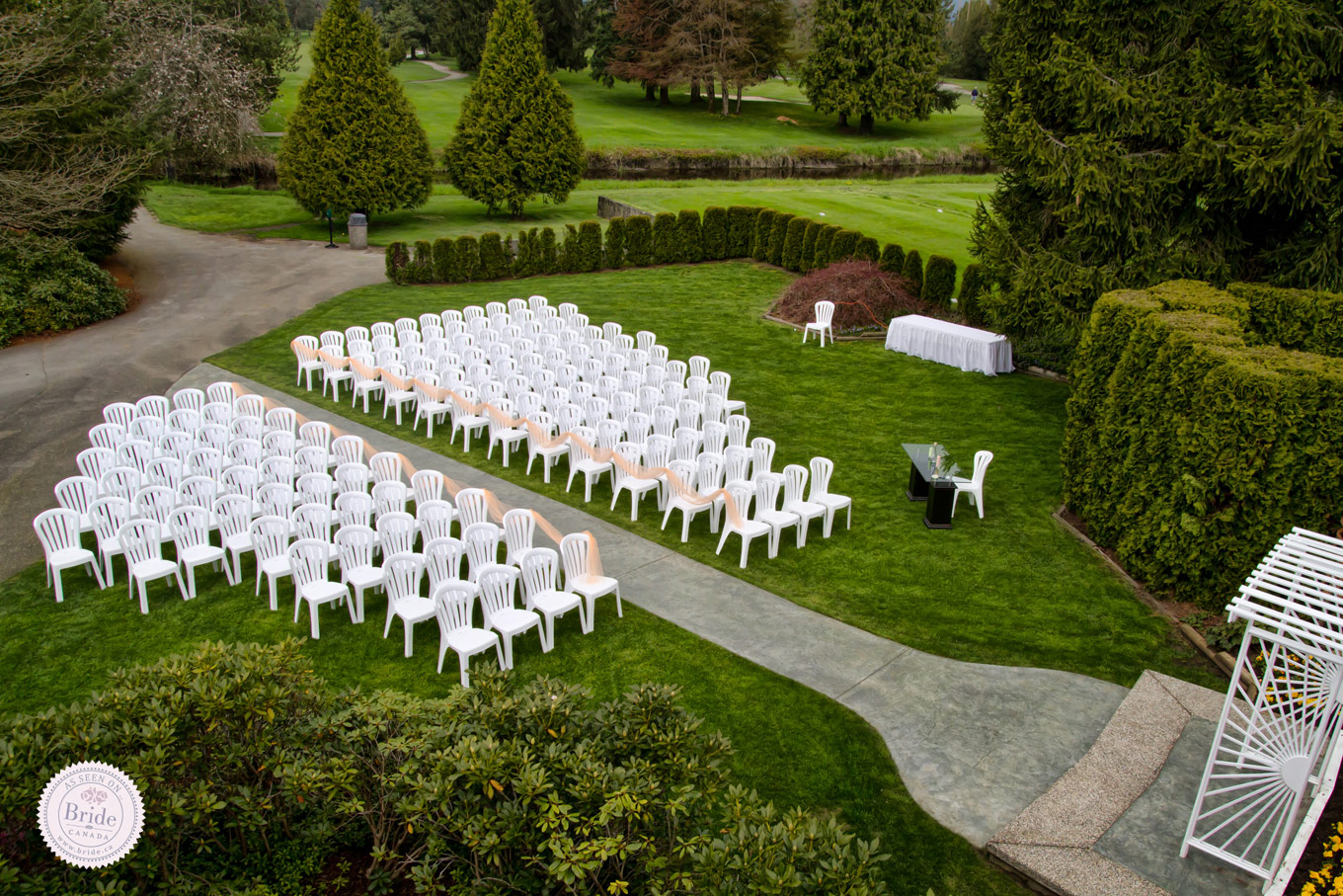 7 great golf wedding venues in greater vancouver for Outdoor wedding ceremony locations