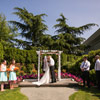 Pitt Meadows Golf Club offers an outdoor ceremony venue in their wedding garden.