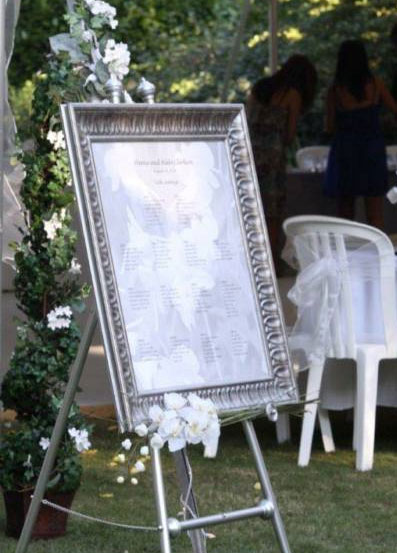 Beautiful and elegant frame for your table seating chart