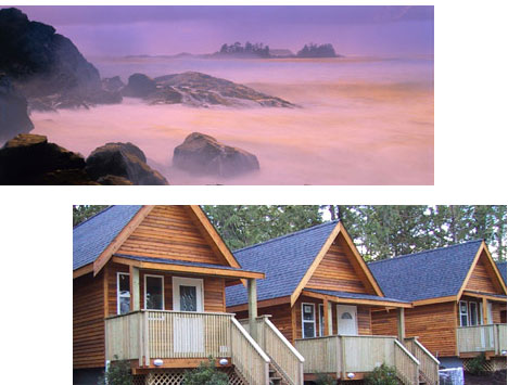 The ruggedly romantic Reef Pt Cottages, near Tofino