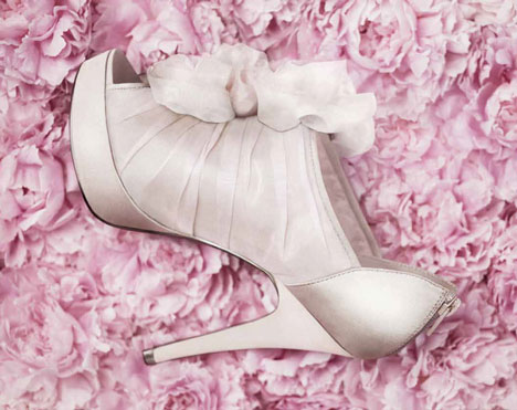 Bridal Shoes: White by Vera Wang
