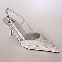 Beaded wedding shoes