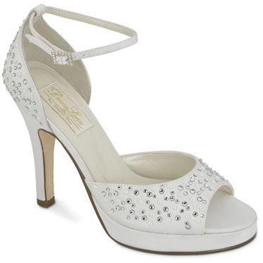 Modern wedding shoes with bling!