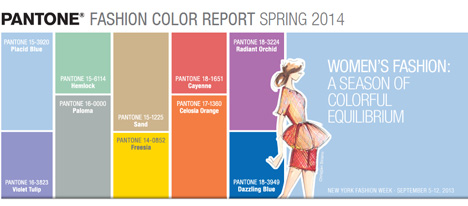 Placid Blue in the 2014 palette by Pantone