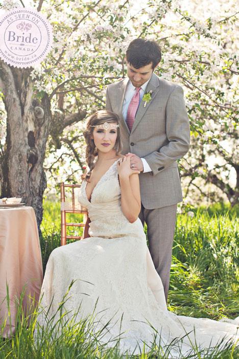 Spring blossoms garden wedding inspiration