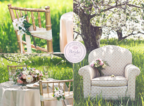 spring garden wedding decor