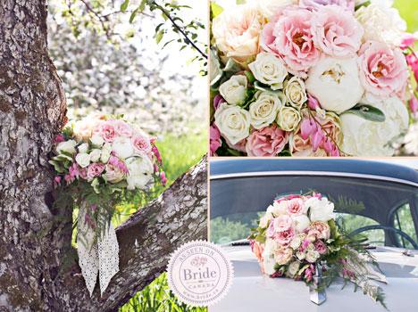 Spring rose bridal bouquet
