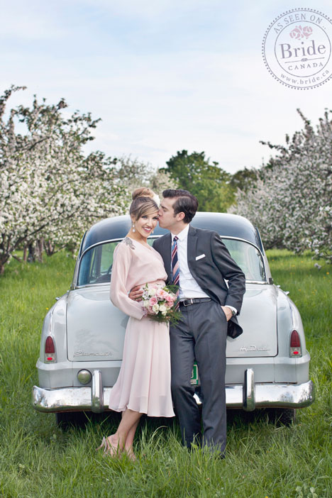 Couple in Spring Orchard
