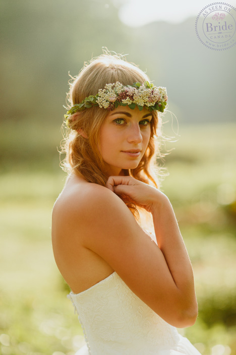 Summer bride in floral crown
