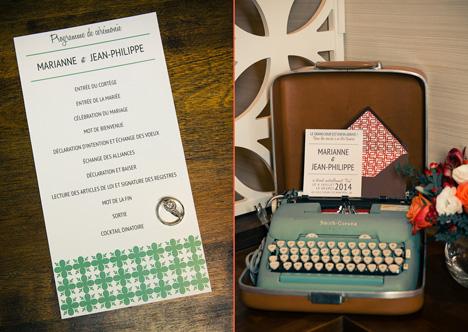 Retro wedding invitations