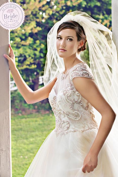 CB Couture Illusion wedding dress + veil