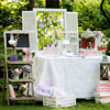 Shabby chic wedding decor by Glam Evenements.