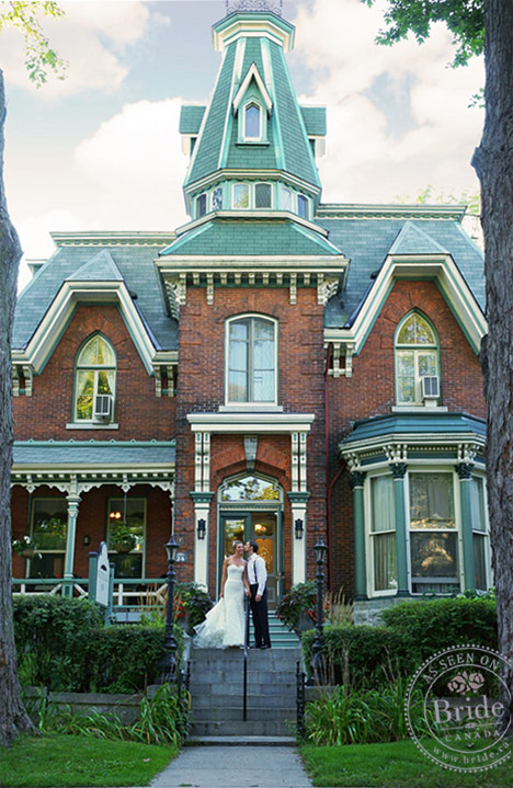 Wedding couple at Hochelaga Inn in Kingston Ontario