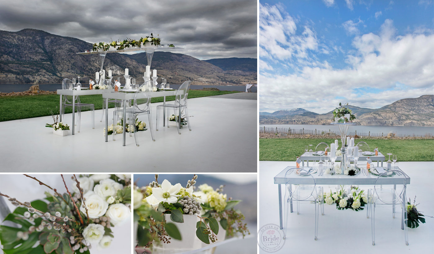 The Green Foliage And White Flowers And Candles Pop Against The Lucite  Furniture. Part 82