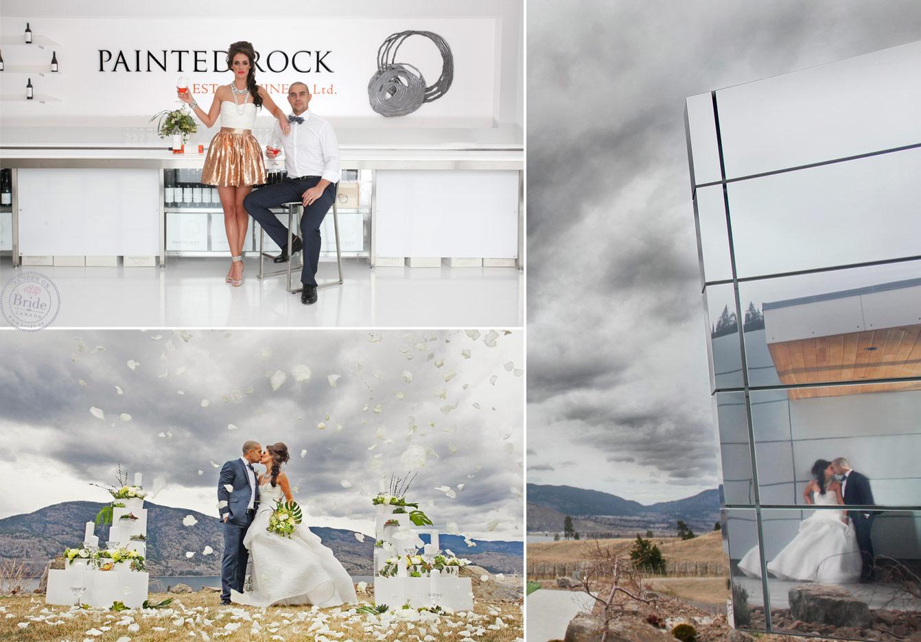 Bride Ca Painted Rock Winery A Modern Okanagan Wedding