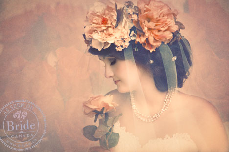 Vintage Bride Portrait