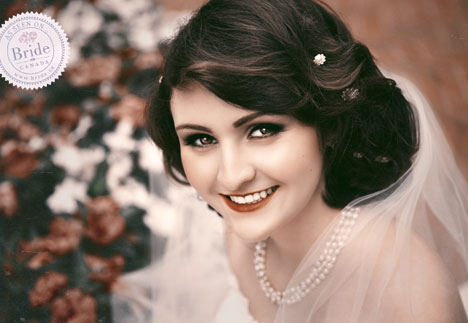 Vintage bridal photography treatment
