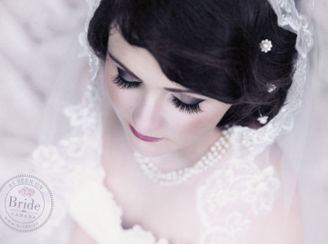 Glamorous retro wedding photography style