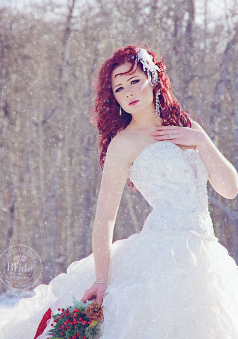 Winter wonderland bride