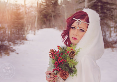 Winter wonderland wedding makeup & hairstyle