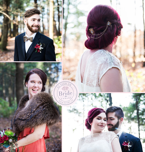 Vintage bohemian style bridal hair & makeup