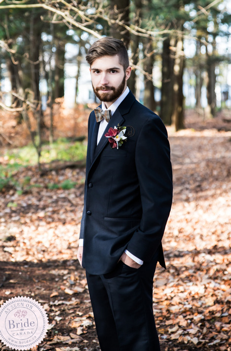 Vintage bohemian hipster style for our groom