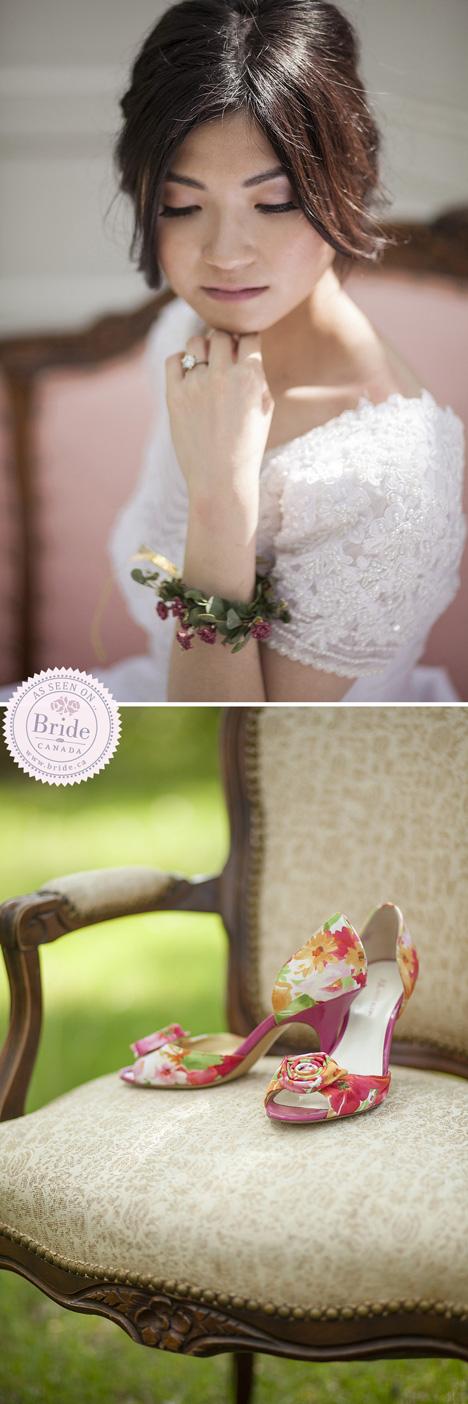 Soft bridal makeup closeup of mauve lip and natural bridal makeup with low updo
