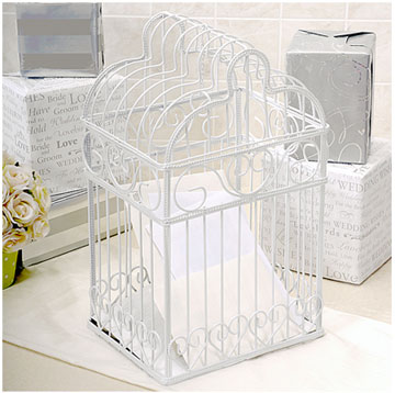Birdcage, wedding envelope, card holder and moneybox