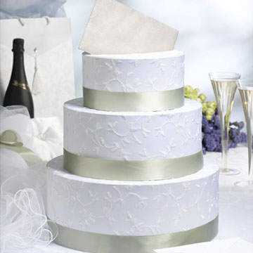 SatinRose 3tier wedding cake money box