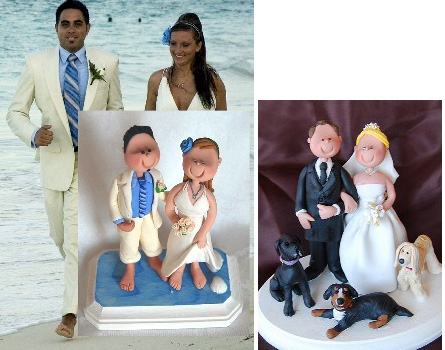 Personalized wedding couple cake toppers
