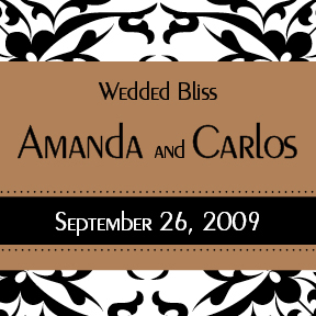 Amanda & Carlos's custom wedding wine label