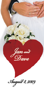 Jan & Dave's personalized wine bottle labels