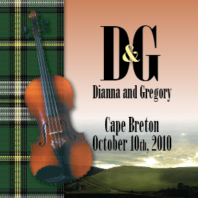 Dianna and Gregory's cape breton personalised wedding wine label