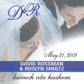 David & Roslyn's personalized wedding wine label