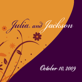 Julia & Jackson's custom wedding wine label