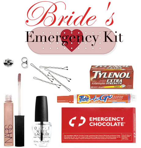 bride ca | Do you have your Wedding Day Emergencies Kit?