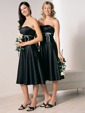 Black  White Striped Dress on More Black Than White Bridesmaids Dresses Mjm Wedding Design White