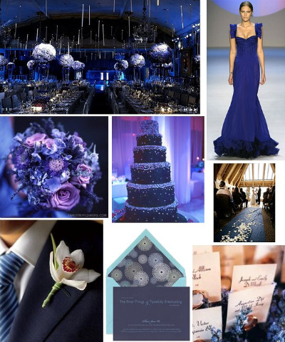 Wedding colors 2011 trends navy blue Navy purple color