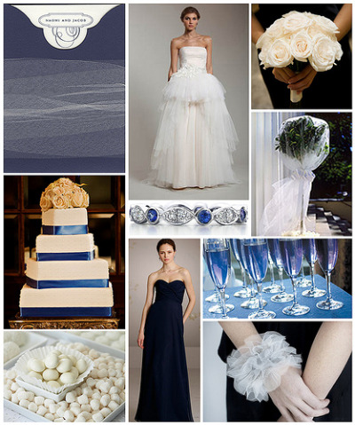 As you can see you have plenty of options when creating a navy blue wedding