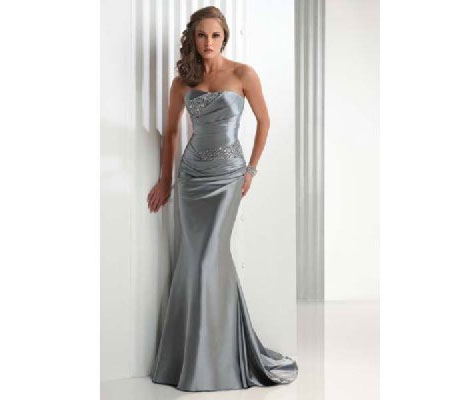 Moonlight silver prom & bridesmaids dress