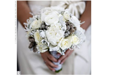 How do you plan a silver and white winter wedding Here are some examples