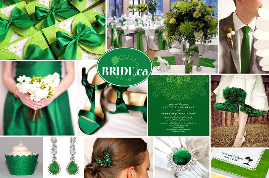 Bride Emerald Green 2013 Wedding Colour Of The Year