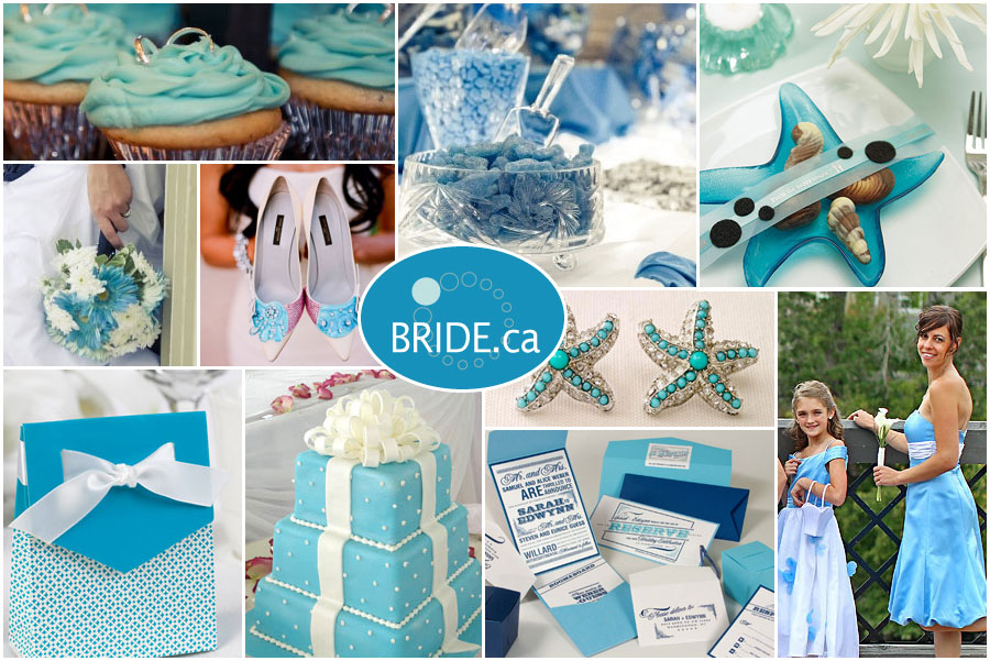 Wedding colour themes ocean blue for Baby blue wedding decoration ideas