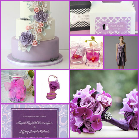 Radiant Orchid wedding styleboard