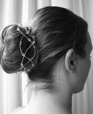 Another bridal hairstyle bun with vine