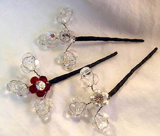 swarovski crystal hair sticks