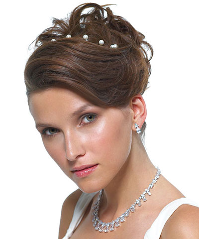 Jewelled hair-twists, from WeddingStar