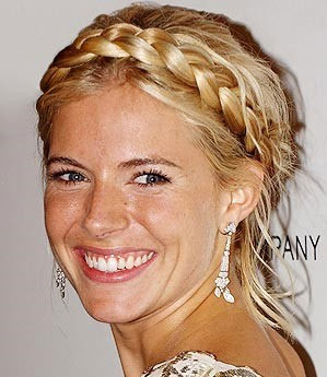 Hairstyles with Braids across Front of Head