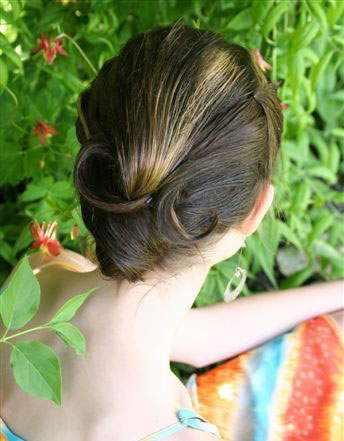 Wedding Hairstyle -- The Classic Chignon with a New Twist for Long Hair