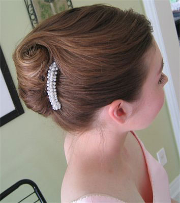 Real Brides, Real Hairstyles: French Twist Gallery